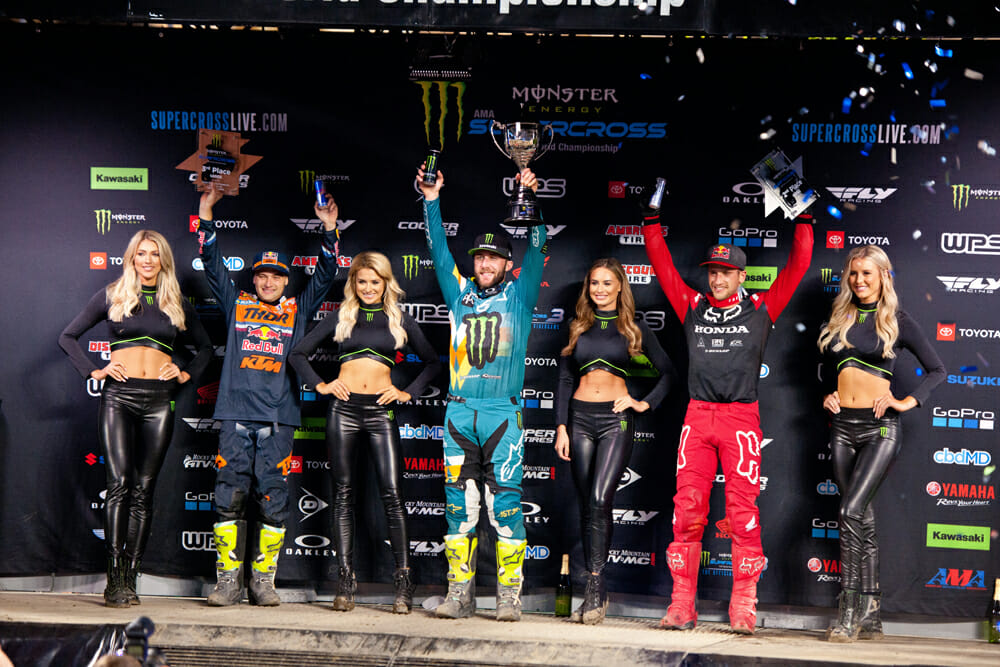 If Supercross doesn't resume in 2020, which isn't likely, Eli Tomac will be declared champion, but you know he doesn't want to win it that way.