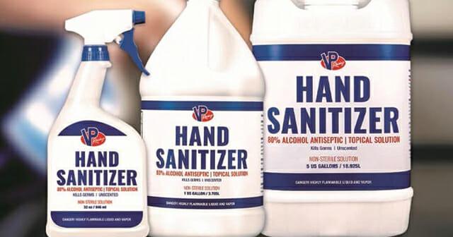 VP Racing Fuels Hand Sanitizer