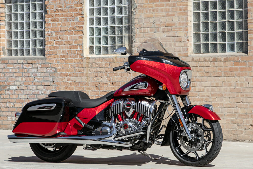 The 2020 Chieftain Elite takes Indian's high-luxury touring concept to a slightly lighter package.