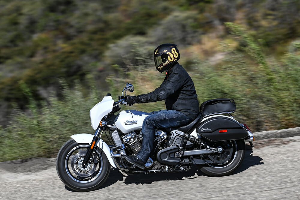 Indian's Scout (with State Line Package) performs admirably well, even when compared back-to-back with full-on touring machines.