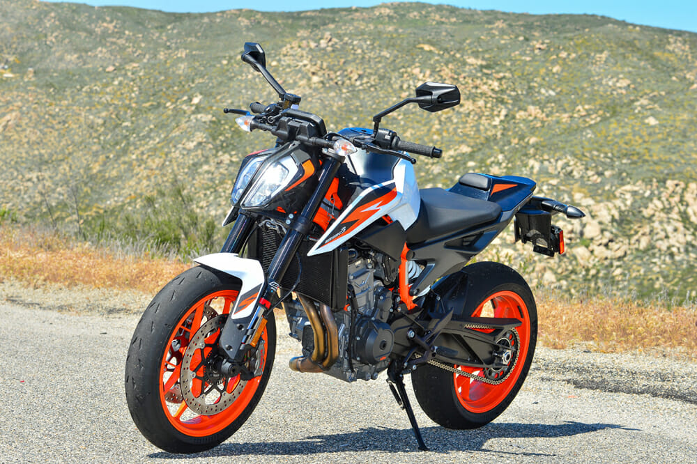 The 2020 KTM 890 Duke R is loud, feisty and damn good-looking.