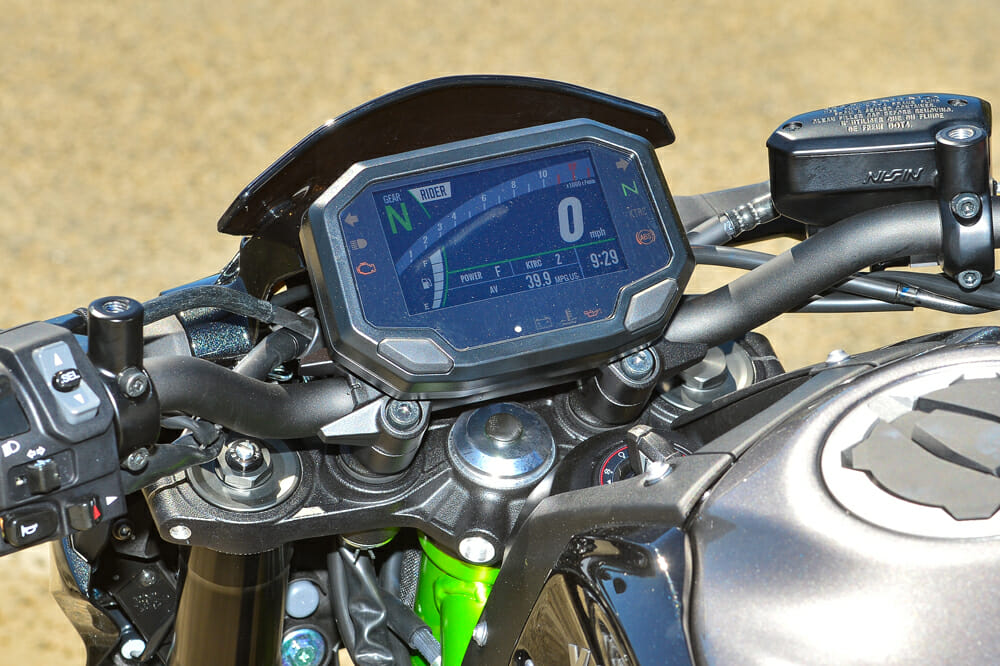 The new dash on the 2020 Kawasaki Z900 ABS is an excellent upgrade.