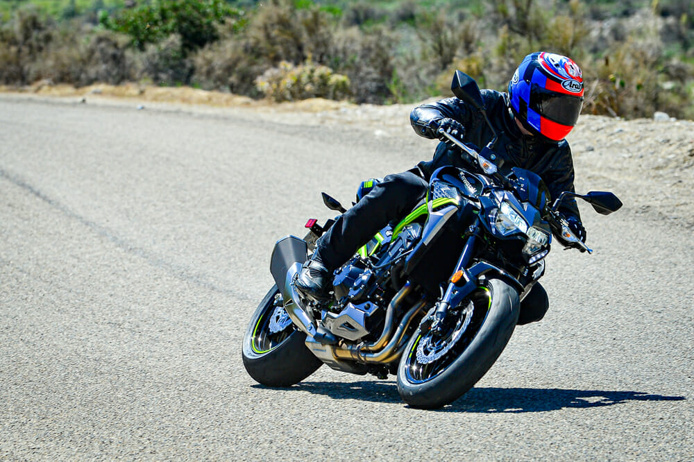 The 2020 Kawasaki Z900 ABS will handle the backroads well but excels in traffic.