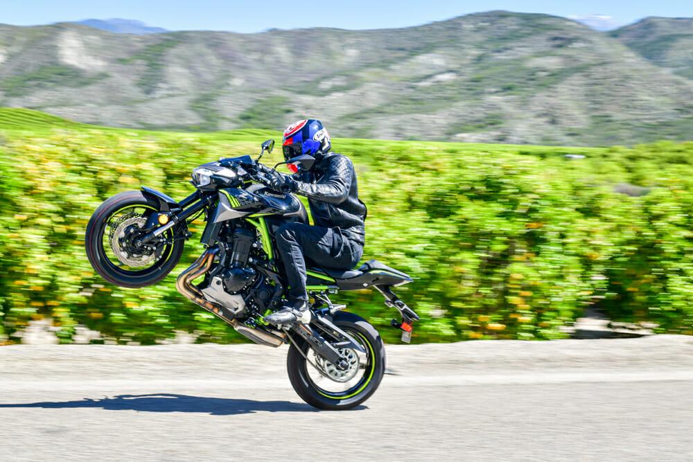 2020 Kawasaki Z900 ABS Wheelie