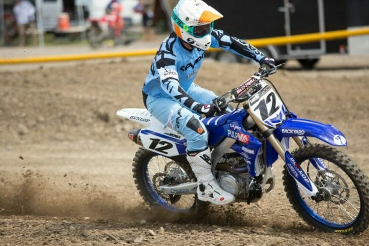 2020 Moto Fite Klub Jake Weimer race action - Photo by Willie Browning