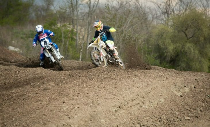 2020 Moto Fite Klub Pastrana and Glover race action - Photo by Willie Browning