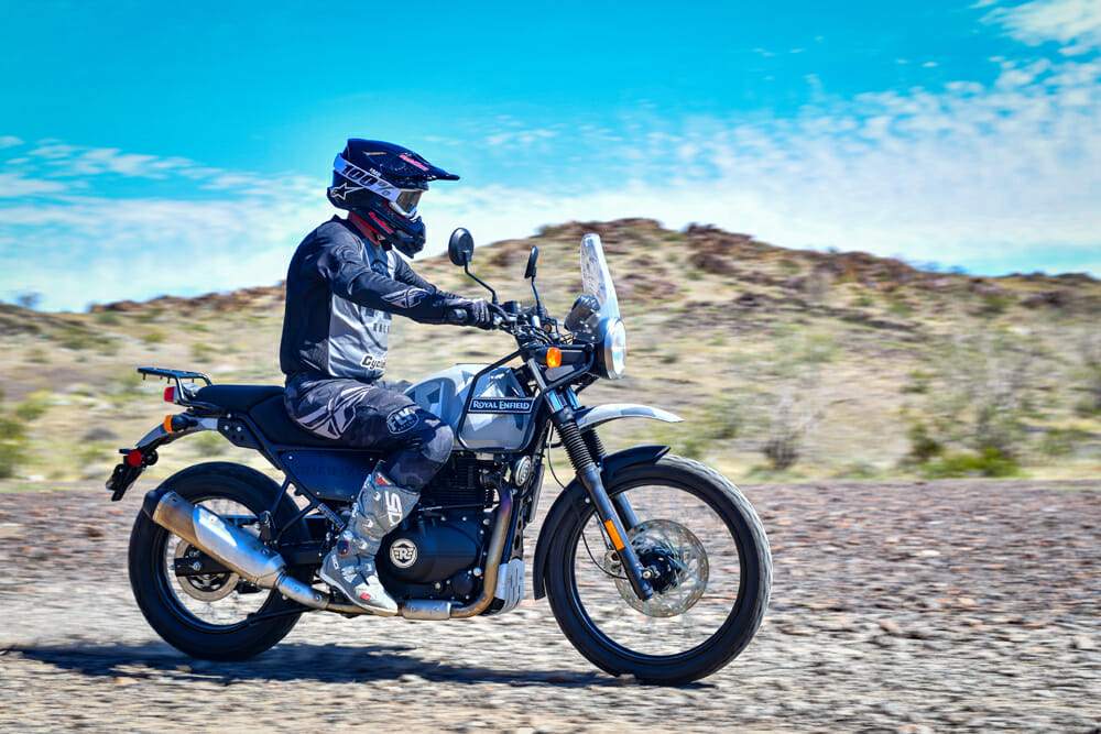 This terrain is about as rugged as you'll want to take the 2020 Royal Enfield Himalayan on, but that's okay