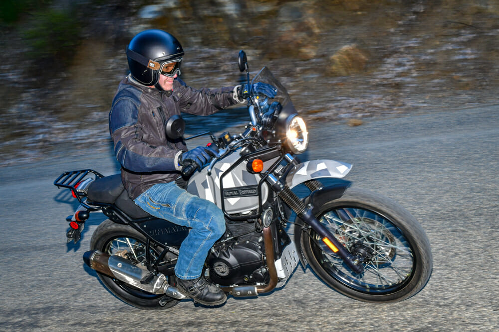 Soft suspension makes the 2020 Royal Enfield Himalayan a surprising pleasure on road.
