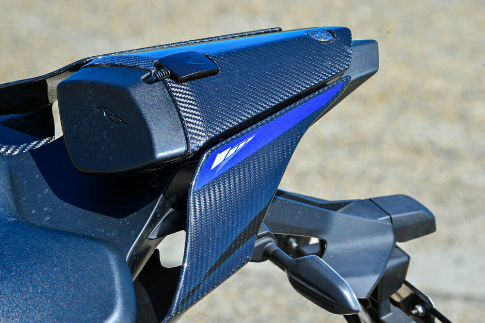 The tail on the 2020 Yamaha YZF-R1M