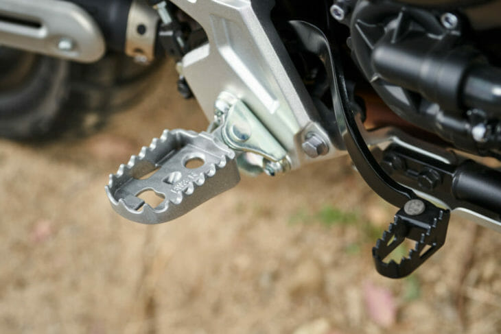 2021 Yamaha Tenere 700 Review Right side footpeg and rear brake lever