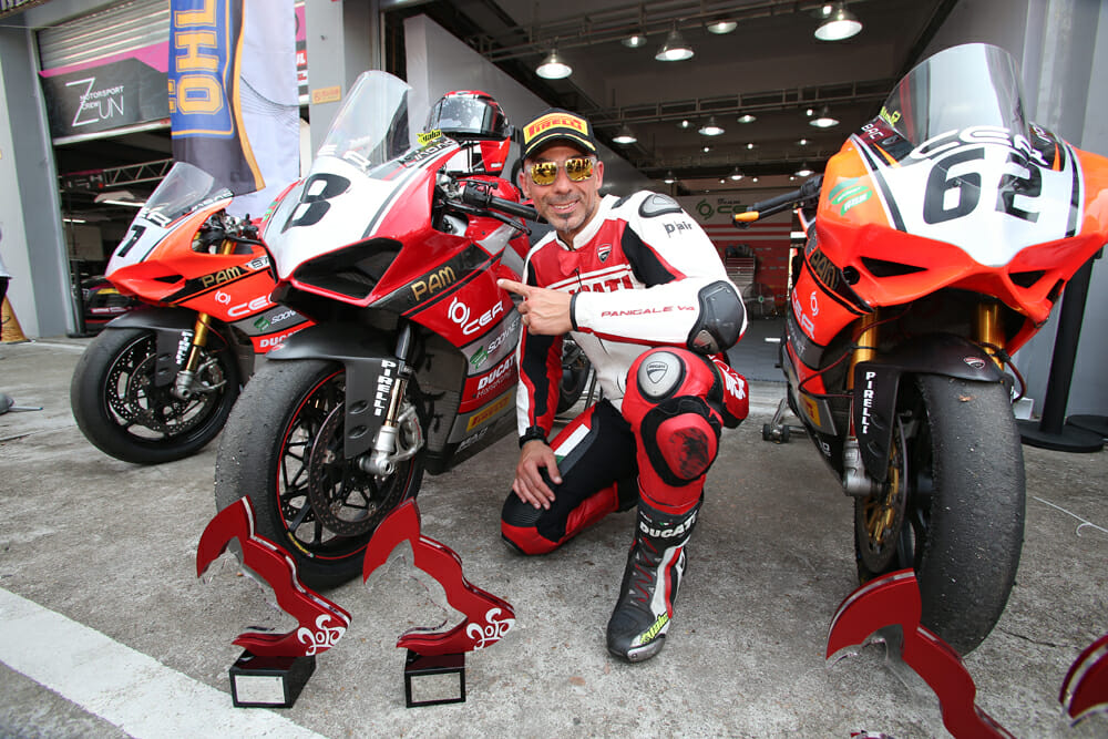 Alessandro Valia clinched the 2018 Chinese Superbike Championship using a largely stock Panigale V4 S.