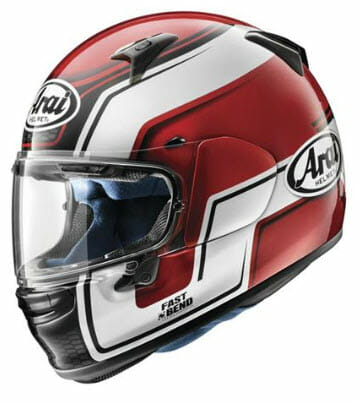 BikeBandit Full Face Street Motorcycle Helmet Arai Regent Bend Red