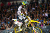 Broc Tickle is ready to compete in the final rounds of Supercross on his Suzuki RM-Z450. Photo by BrownDogWilson