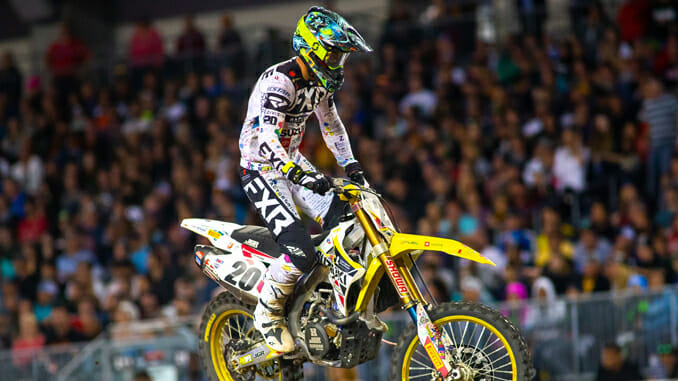 Broc Tickle is ready to compete in the final rounds of Supercross on his Suzuki RM-Z450.