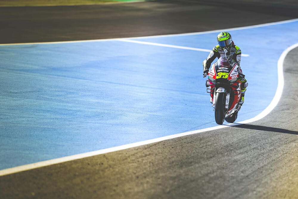 Cal Crutchlow on the racetrack.