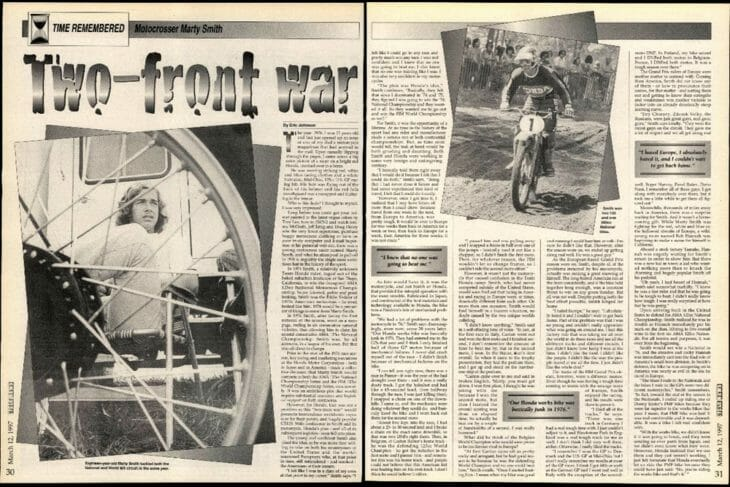 Cycle News 1997 March 12 Time Remembered Marty Smith interview screen shot
