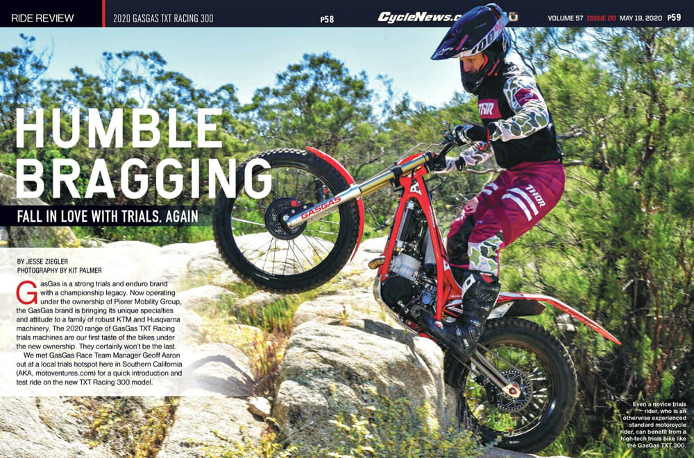 Cycle News Review 2020 GasGas TXT Racing 300