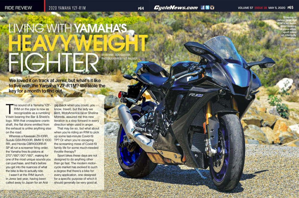 2020 Yamaha YZF-R1M Review | We loved it on track at Jerez, but what's it like to live with the Yamaha YZF-R1M? We stole the key for a month to find out.