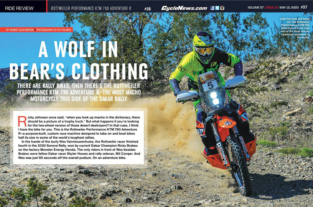 Cycle News Review Rottweiler Performance KTM 790 Adventure R