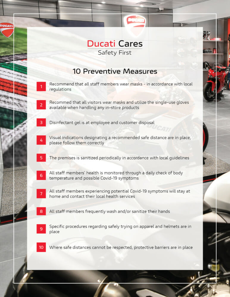 Ducati Cares – 10 Golden Rules