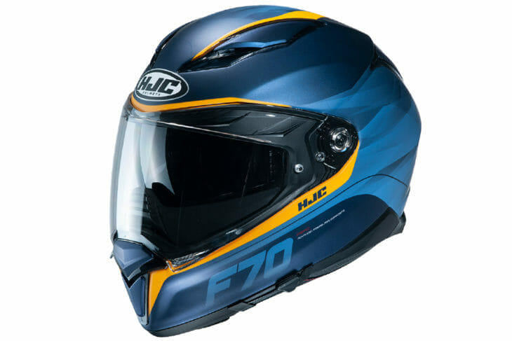 The HJC F70 full-face helmet is HJC's latest sport-touring helmet.