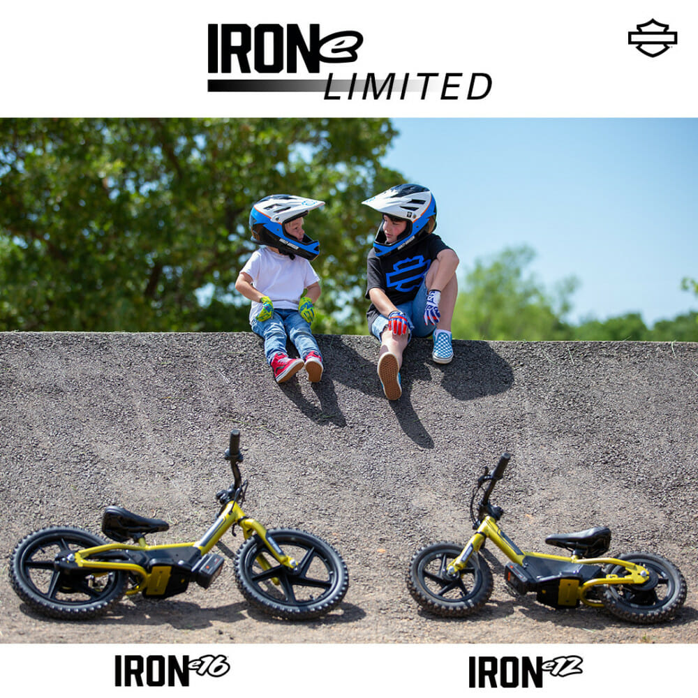Harley-Davidson IRONe12 and IRONe16 Kids Electric Balance Bikes