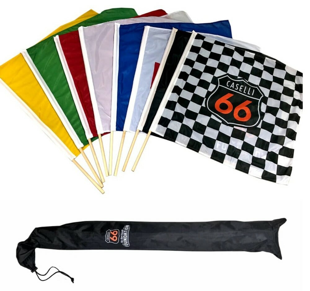 Kurt Caselli Foundation Racing Flags