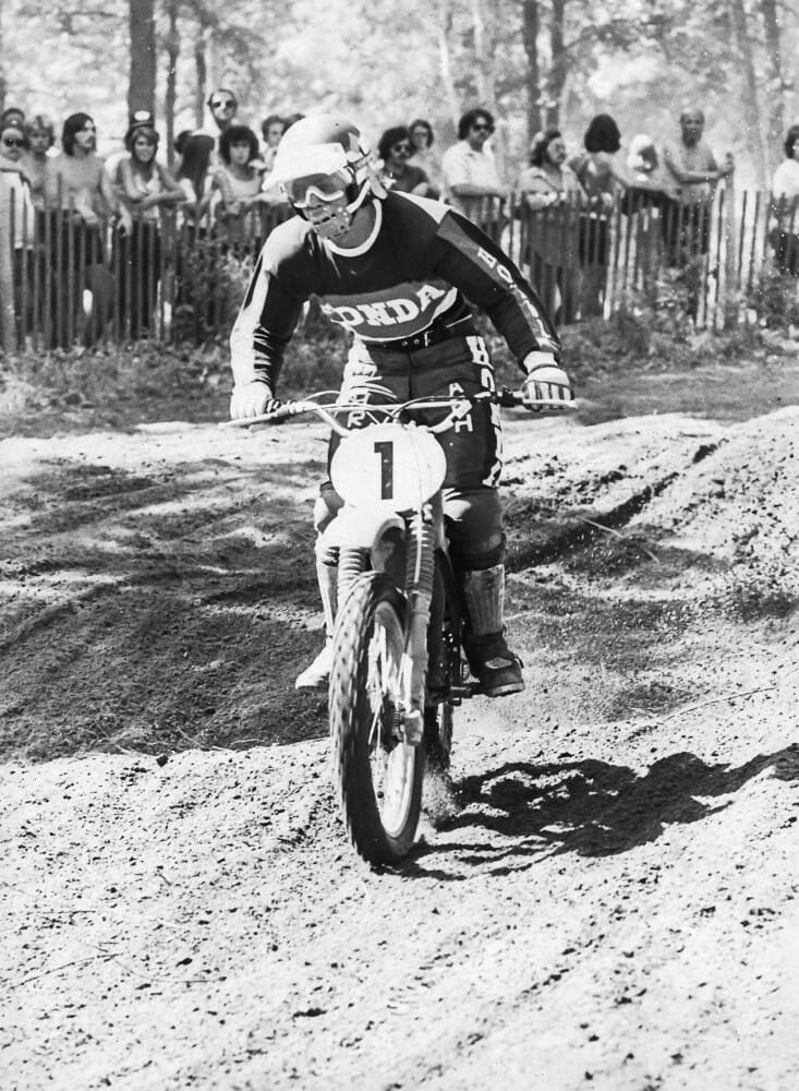 Marty Smith won back-to-back 125cc MX titles in 1974 and 1975.