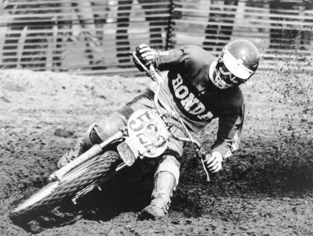 In 1974, the inaugural AMA 125cc National MX Championship, Marty Smith claimed the number-one plate in the four-race series.