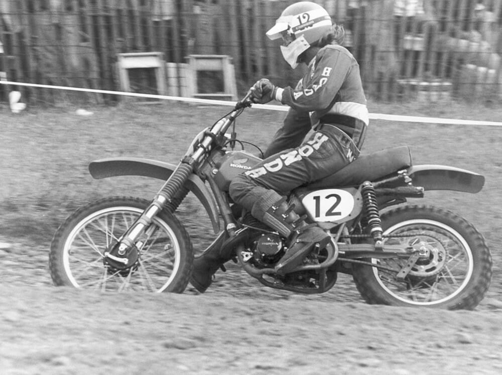 Despite following the 125cc national circuit in 1974, Marty Smith kept up with his schooling and graduated high school the same year.