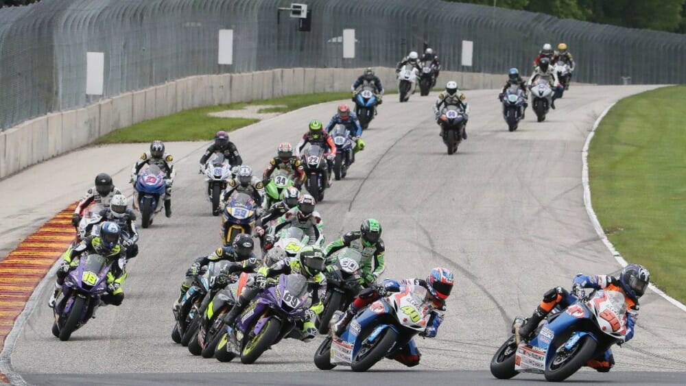 A lot of the faces have changed, but the Supersport Series promises to provide the same great racing as the 2020 MotoAmerica Series gets rolling this weekend at Road America in Elkhart Lake, Wisconsin. Photo by Brian J. Nelson
