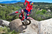 2020 GasGas TXT Racing 300 Review | We met GasGas Race Team Manager Geoff Aaron out at a local trials hotspot here in Southern California for a quick introduction and test ride on the new TXT Racing 300 model.