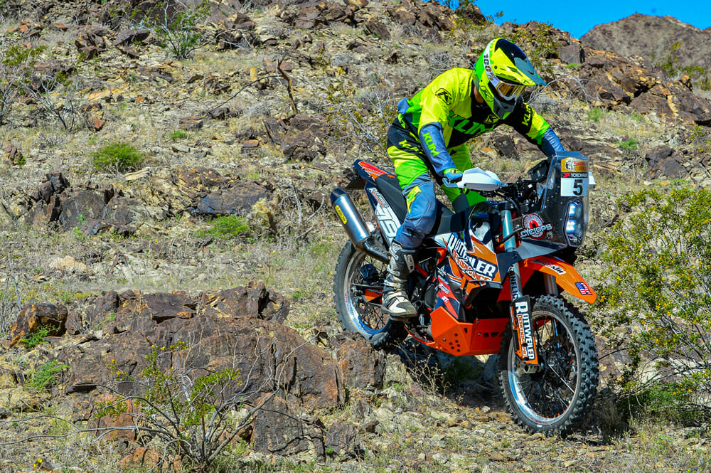 In the tight, rocky stuff, the Konflict-valved suspension of the Rottweiler Performance KTM 790 Adventure R is marvelous.