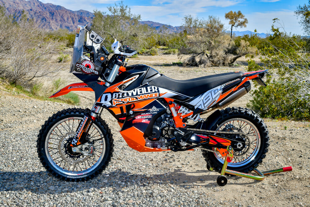 Beneath the wild exterior of the Rottweiler Performance KTM 790 Adventure R is a KTM 790 Adventure that's had lots of careful mods to turn from a casual ADV bike into a full-blown racer.