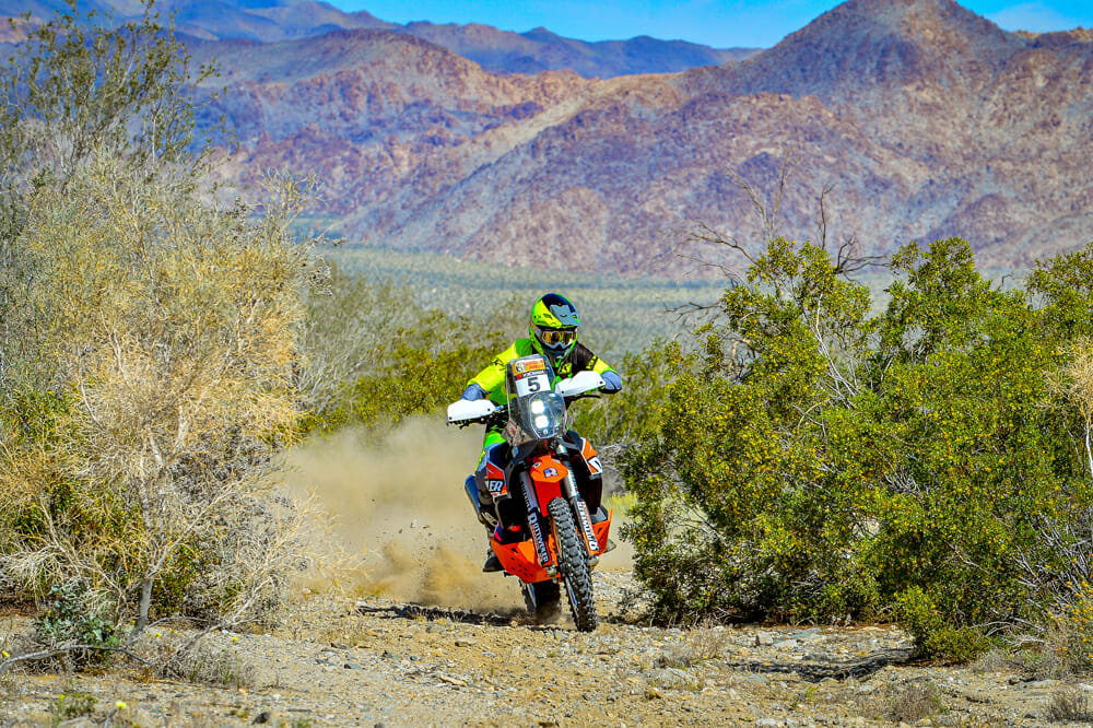 You wouldn't want to catch any rocky roost from the Rottweiler Performance KTM 790 Adventure R.