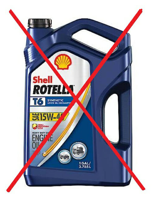 Shell Rotella oil is for diesel engines