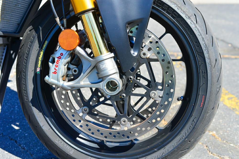 2020 Ducati Streetfighter V4 S has brembo brakes.