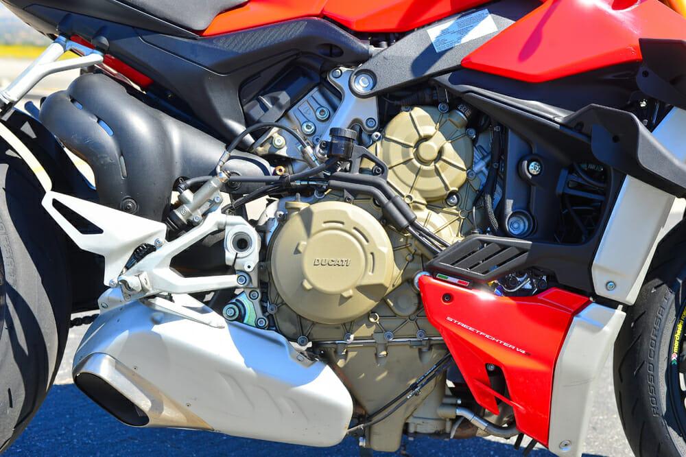 2020 Ducati Streetfighter V4 S makes more than 200 horsepower,