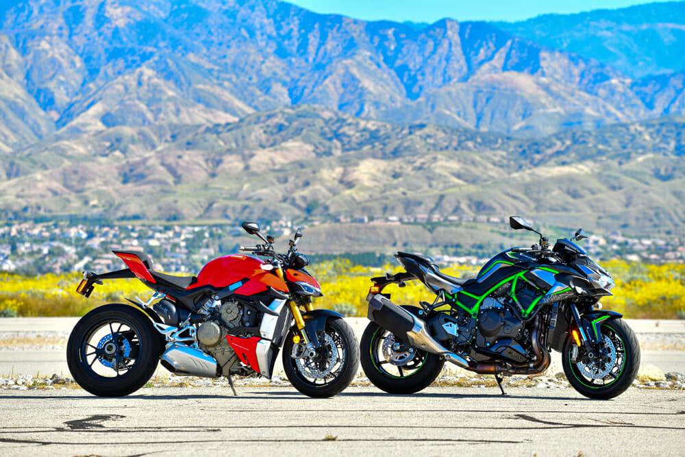 2020 Ducati Streetfighter V4 S and Kawasaki Z H2 Comparison