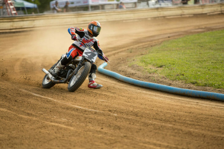 2020 Flattrack FITE Klub 1 Chris Carr Action - Willy Browning Photo