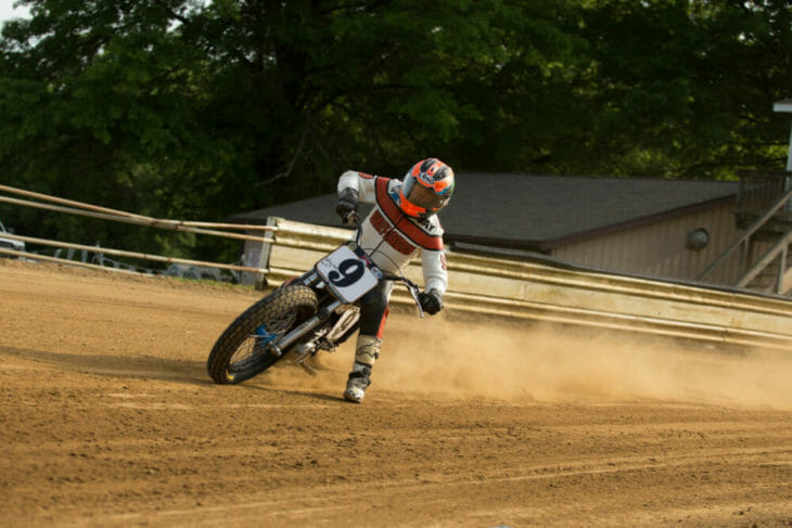 2020 Flattrack FITE Klub 1 Jay Springsteen Action - Willy Browning Photo