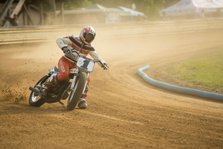 2020 Flattrack FITE Klub 1 Scott Parker Action - Willy Browning Photo