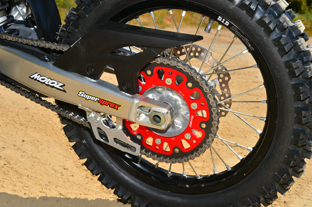 Changing the gearing on the 2020 Honda CRF450L project bike with a Supersprox sprocket.