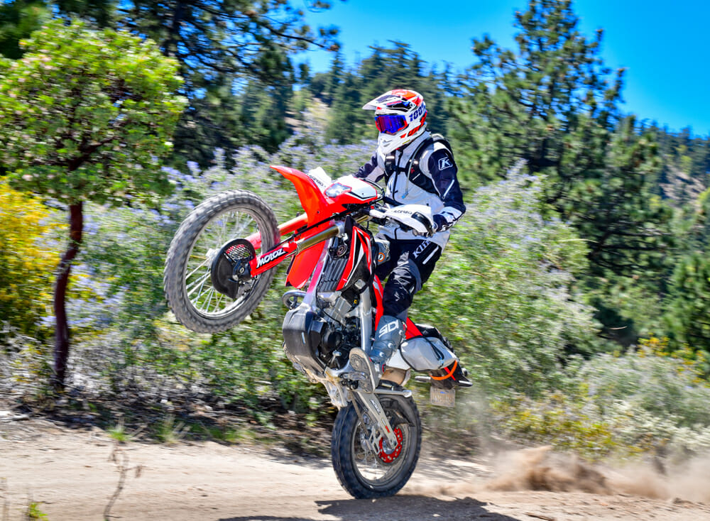 2020 Honda CRF450L with MotOZ Tractionator tires.