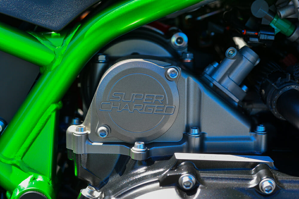 2020 Kawasaki Z H2 has a supercharged inline-four engine.