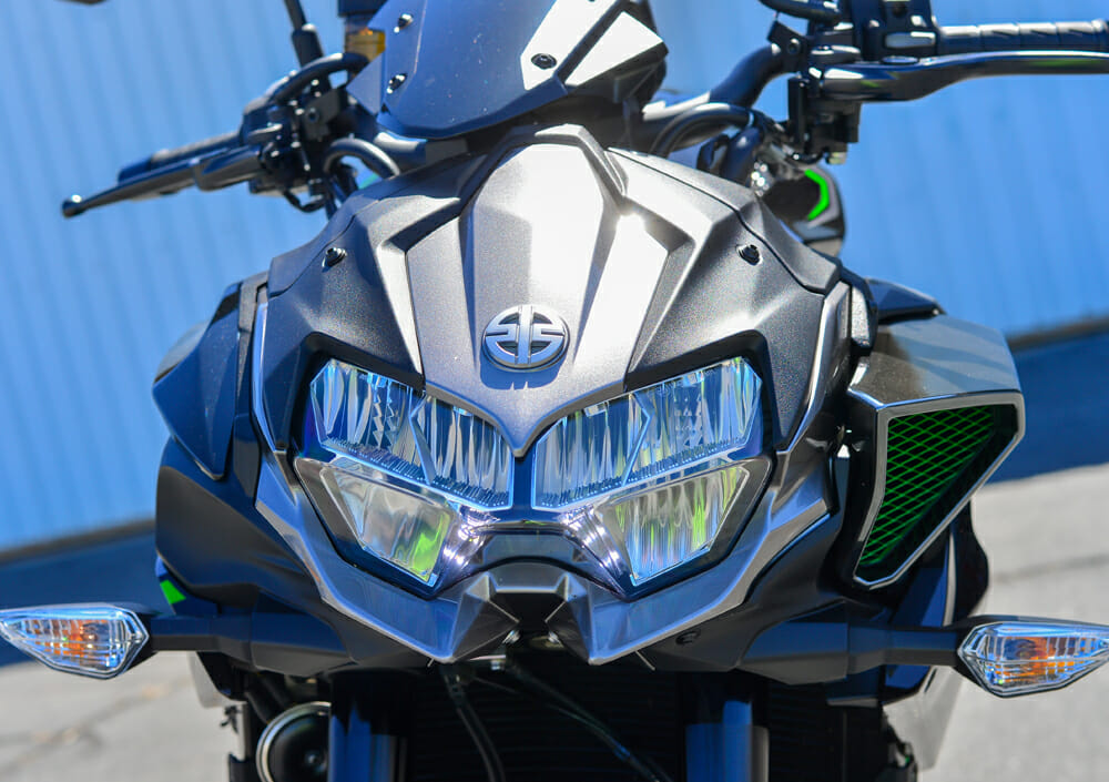 The face of the 2020 Kawasaki Z H2