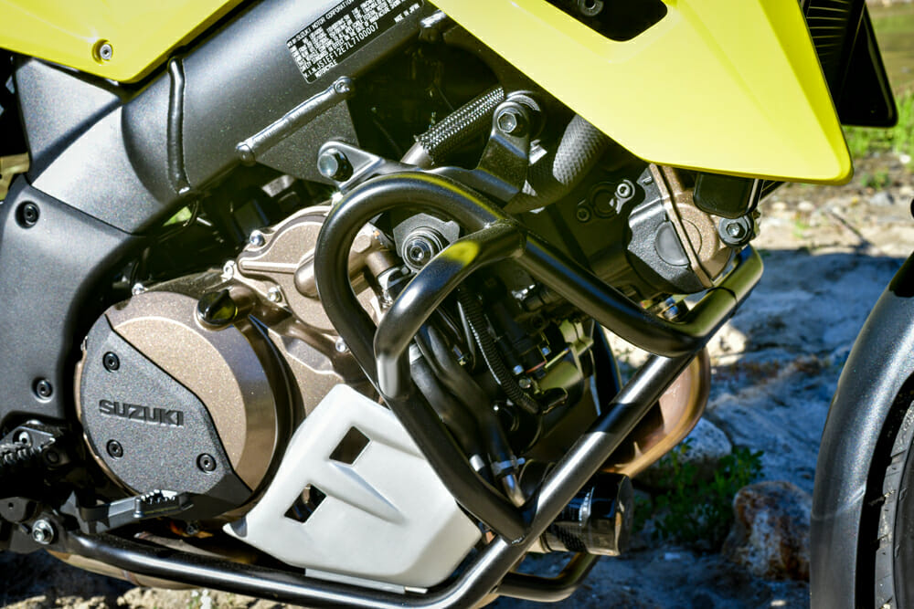 The engine of the 2020 Suzuki V-Strom 1050XT received a number of changes for 2020.