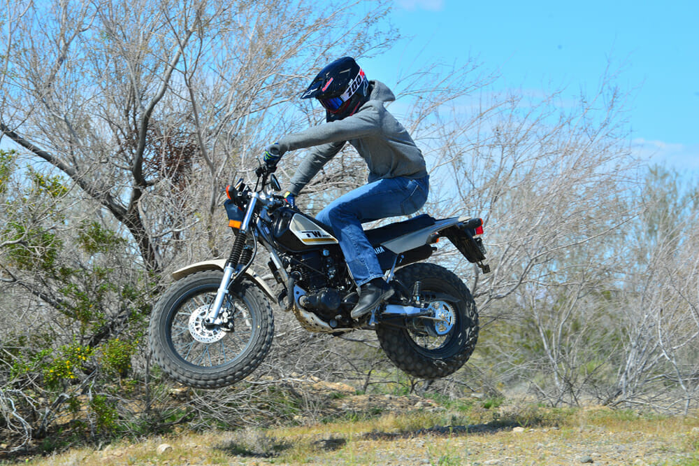 Jumping a 2020 Yamaha TW200