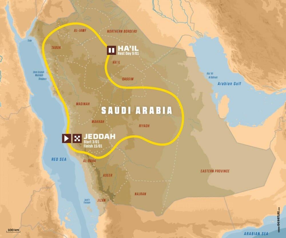 2021 Dakar Route
