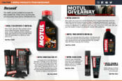 BikeBandit Top Five Motul Products magazine spread